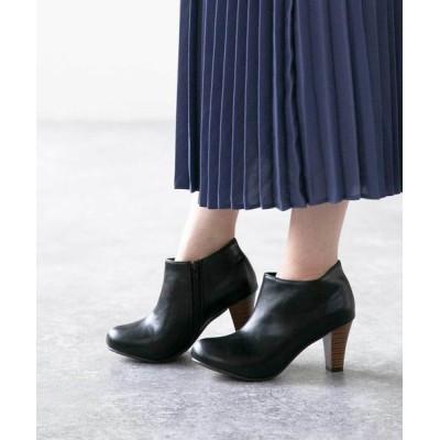 welleg from outletshoes / チャンキーヒール ショートブーツ サイドジップブーツ WOMEN シューズ > ブーツ