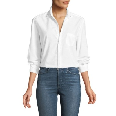 フランク & アイリーン レディース シャツ トップス Eileen Button-Front Long-Sleeve Poplin Shirt
