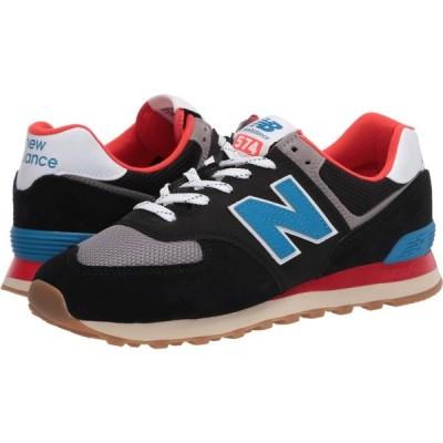 ニューバランス New Balance Classics メンズ スニーカー シューズ・靴 ML574v2 Black/Neo Classic Blue