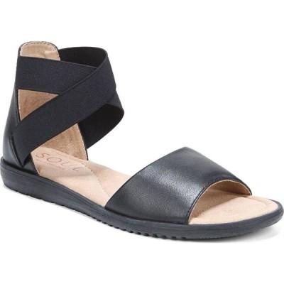 ソウル ナチュラライザー Soul Naturalizer レディース サンダル・ミュール アンクルストラップ シューズ・靴 Willa Ankle Strap Sandals Black Leather