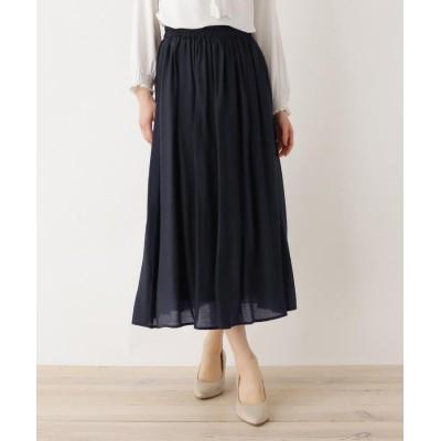 SHOO・LA・RUE/DRESKIP(シューラルー/ドレスキップ) 【M-LL】RNボイルロングスカート
