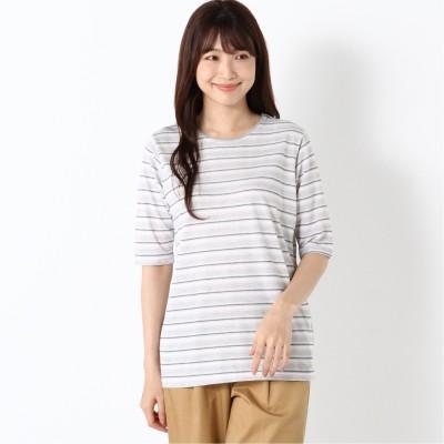 涼しく快適ドライカノコ5分袖Tシャツ【無地・ボーダー】