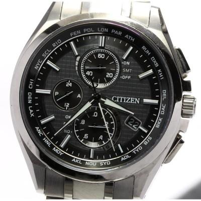 箱保付【CITIZEN】シチズン アテッサ クロノグラフ AT8040-57E ソーラー電波 メンズ