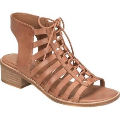 コンフォーティヴァ Comfortiva レディース サンダル・ミュール レースアップ シューズ・靴 Blossom Ghillie Lace Up Sandal Walnut La Mesa Leather
