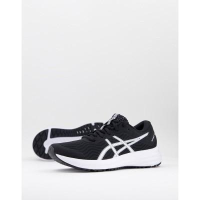アシックス Asics レディース ランニング・ウォーキング シューズ・靴 Running Patriot 12 trainers in black and white ブラック