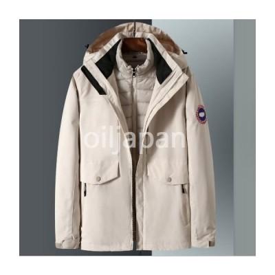 新品 ウィンタージャケット ダウンコート コットンコート 暖かいインナーライナー付き ロングセクション