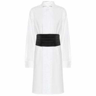 メゾン マルジェラ MM6 Maison Margiela レディース ワンピース ワンピース・ドレス Cotton shirt dress White
