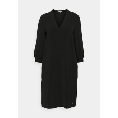 マイン トゥ ファイブ トム テイラー ワンピース レディース トップス DRESS FEMININE SLEEVES ELASTIC - Day dress - deep black
