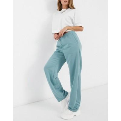 エイソス レディース カジュアルパンツ ボトムス ASOS DESIGN jersey suit track pant in washed blue Washed blue
