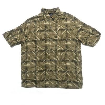 axcess/men レーヨンシャツ 半袖 総柄 サイズ表記:L