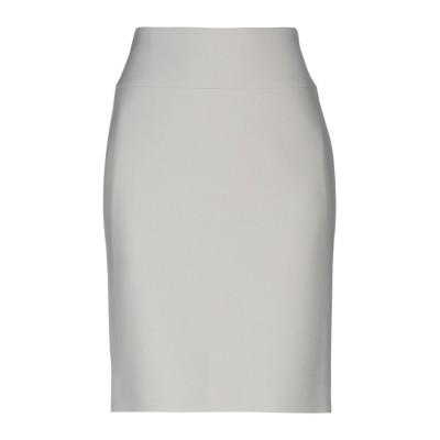 PESERICO SIGN ひざ丈スカート ライトグレー 48 ポリエステル 64% / レーヨン 27% / コットン 6% / ポリウレタン 3