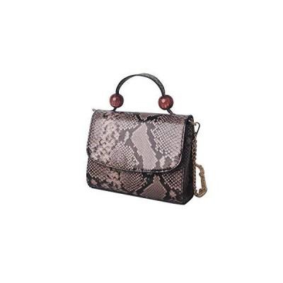 ビーズエンベロープクラッチPUハンドバッグ財布ショルダークロスボディバッグ付きファッション女性ヘビ皮パ?