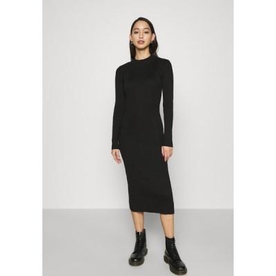 ジースター ワンピース レディース トップス PLATED LYNN DRESS MOCK - Shift dress - black