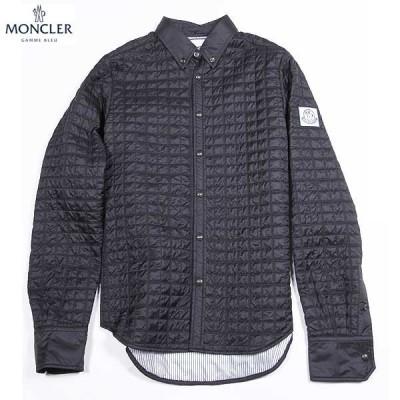 モンクレール MONCLER メンズ トップス シャツ 長袖 ロゴ MONCLER GAMME BLEU アームロゴワッペン付キルティングシャツ ネイビー (R171774) 15A
