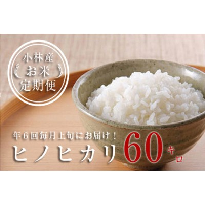 【定期便:全6回】小林産ひのひかり(10kg×6回)