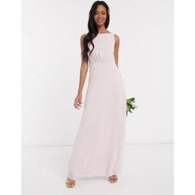 メイドトゥーメジャー Maids to Measure レディース ワンピース ワンピース・ドレス bridesmaid cowl back chiffon dress