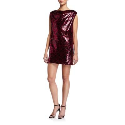 アールティーエー レディース ワンピース トップス Stevie Sequined Sleeveless Mini Dress