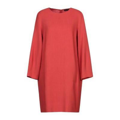 ANTONELLI ミニワンピース&ドレス レッド 44 バージンウール 100% ミニワンピース&ドレス