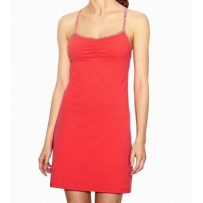 Lucy ルーシー ファッション ドレス Lucy NEW Orange Womens Size XL Ruched Stretch Built In Bra Sheath Dress