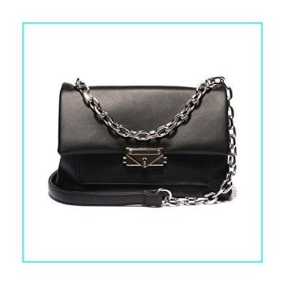 【新品】VITACCI Women's Handbag Leather Crossbody Clutch Small Satchel with Chain Strap Black(並行輸入品)