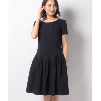 MISS J/ミス ジェイ Jタフタ ドレス ネイビー 40
