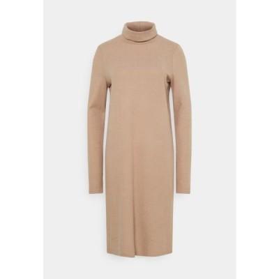 レディース ファッション PCPAM HIGH NECK DRESS - Jumper dress - warm taupe