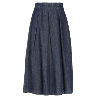 VIA MASINI 80 デニムスカート ブルー 46 コットン 62% / 麻 38% デニムスカート