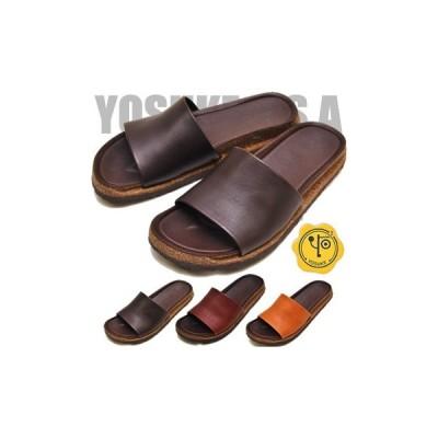 ポイント5倍 フラットサンダル 本革 レディース YOSUKE ヨースケ 靴 ※(予約)は3営業日内に発送