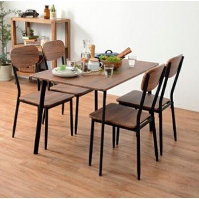 ダイニングセット ダイニングテーブルセット おしゃれ カフェ モダン 安い 北欧 ダイニングチェア 椅子 アンティーク 木製 シンプル 4脚