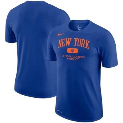 ナイキ メンズ Tシャツ トップス New York Knicks Nike Essential Heritage Performance T-Shirt Blue