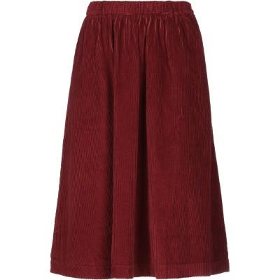 アメリカン ヴィンテージ AMERICAN VINTAGE 7分丈スカート ボルドー M コットン 85% / ポリエステル 15% 7分丈スカート