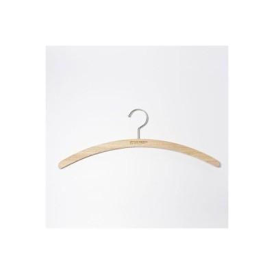 ハンガー 跡がつかない 木製 三日月 ラウンド Tシャツ 防虫 防臭 樟脳 オシャレ