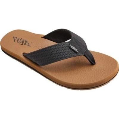 フロジョス Flojos メンズ ビーチサンダル シューズ・靴 Chase Flip Flop Black/Tan