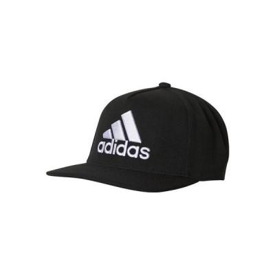 即納 アディダス adidas メンズ  ロゴフラット キャップ EBZ97 ブラック/ホワイト(DZ8958)