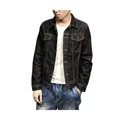 メンズ デニムジャケット Gジャン ジージャン ダメージ 加工 長袖 大きいサイズ WA374