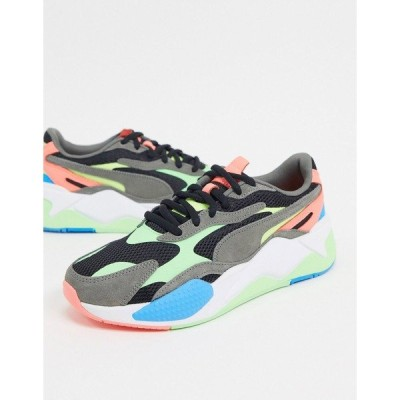 プーマ メンズ スニーカー シューズ Puma RX-X3 energy sneakers in black and multicolor Black