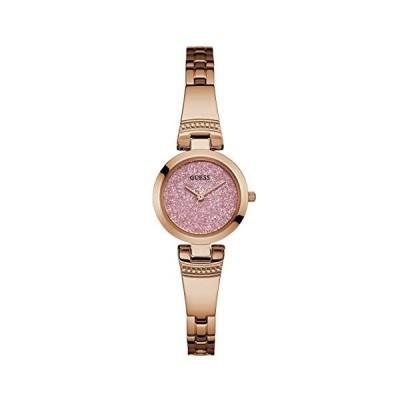 腕時計 ゲス GUESS U0890L4 Guess Factory Pink and Rose Gold-Tone Petite Glitz Watch