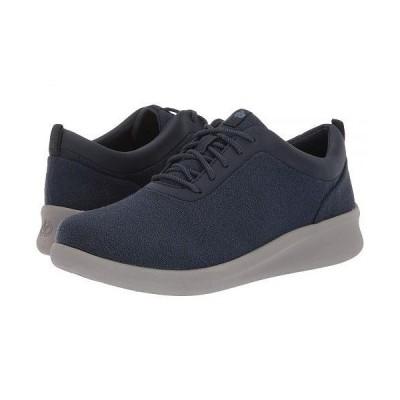 Clarks クラークス レディース 女性用 シューズ 靴 スニーカー 運動靴 Sillian 2.0 Pace - Navy Textile