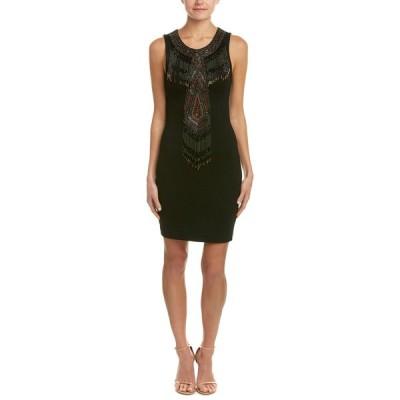 オートヒッピー ワンピース トップス レディース Haute Hippie Apache Embellished Sheath Dress black