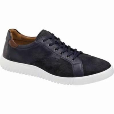 ジョンストン&マーフィー スニーカー McFarland Lace to Toe Sneaker Navy Full Grain/Navy Embossed Nubuck