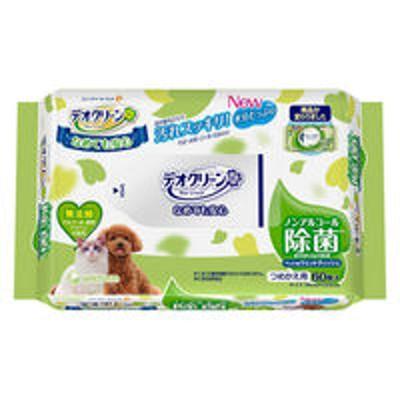 ユニ・チャームデオクリーン 犬猫用 ノンアルコール除菌 ウェットティッシュ 詰め替え用 60枚 1個 ユニ・チャーム