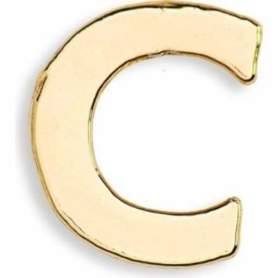 ビンバン BING BANG レディース イヤリング・ピアス スタッドピアス ジュエリー・アクセサリー Tiny Initial Stud Earring Gold