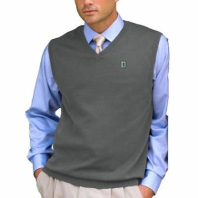 Vantage Apparel バンテージ アパレル スポーツ用品  Dartmouth Big Green Heathered Gray Milano Knit Sweater Vest