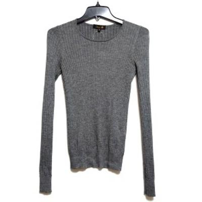 ドゥロワー Drawer 長袖セーター サイズ2 M レディース 美品 - グレー クルーネック/カシミヤ/シルク【中古】20210330