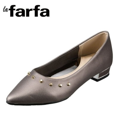 ラ・ファーファ シューズ la farfa SHOES LAFARFA-58 レディース   パンプス   大きいサイズ対応   スタッズ   ラファーファ   ガンメタ