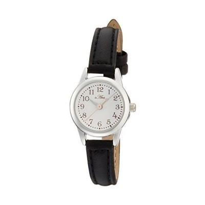 [フィールドワーク] 腕時計 フィールドワーク アナログ 小丸レザー 革ベルト FSC026-B レディース ブラック