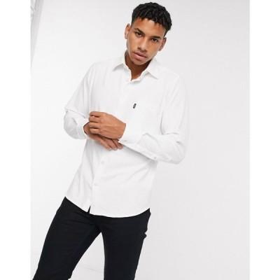ヒューゴ ボス BOSS メンズ トップス Relegant 2 Tab Logo Shirt In White ホワイト