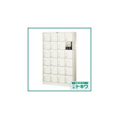 TRUSCO シューズケース 24人用 1050X380XH1700 棚付 ( SC-24W (タナイタツキ) ) トラスコ中山(株)