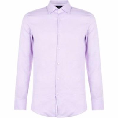 ヒューゴ ボス Boss メンズ シャツ トップス Jesse Contrast Trim Shirt Lilac
