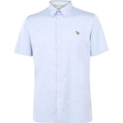 ポールスミス PS Paul Smith メンズ 半袖シャツ ワイシャツ トップス PS Zebra Oxford Short Sleeve Shirt Sky Blue A